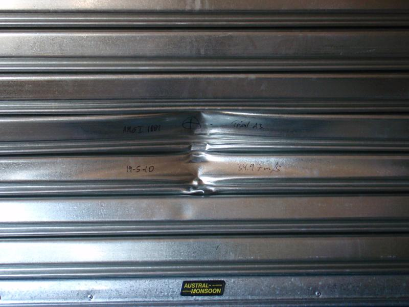 cyclone-rated steel roller shutter